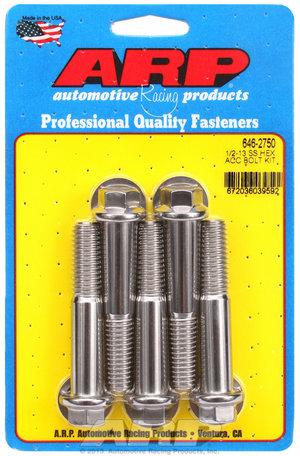 ARP 1/2-13 x 2.750 hex SS bolts 6462750