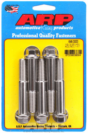 ARP 1/2-13 x 3.000 hex SS bolts 6463000