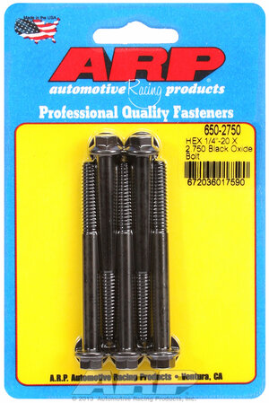 ARP 1/4-20 X 2.750 hex black oxide bolts 6502750
