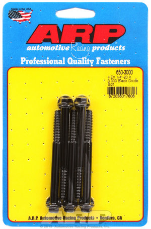 ARP 1/4-20 X 3.000 hex black oxide bolts 6503000