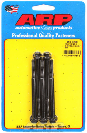 ARP 1/4-20 X 3.250 hex black oxide bolts 6503250