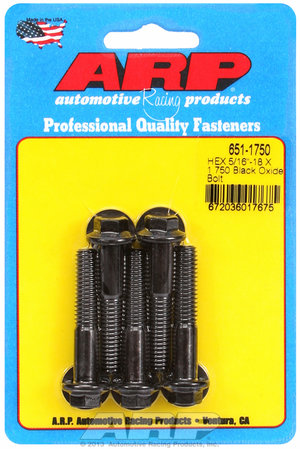 ARP 5/16-18 X 1.750 hex black oxide bolts 6511750