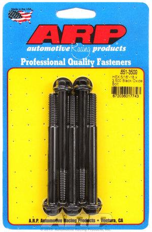 ARP 5/16-18 X 3.500 hex black oxide bolts 6513500