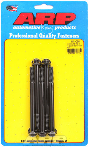ARP 5/16-18 X 4.250 hex black oxide bolts 6514250