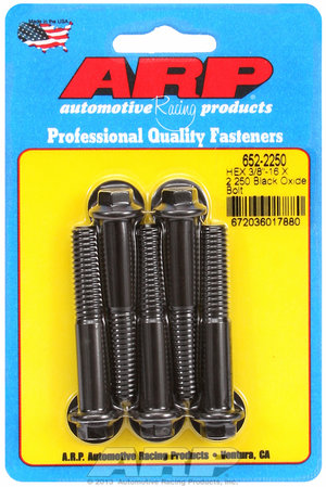 ARP 3/8-16 X 2.250 hex black oxide bolts 6522250