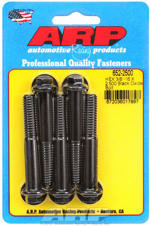 ARP 3/8-16 X 2.500 hex black oxide bolts 6522500