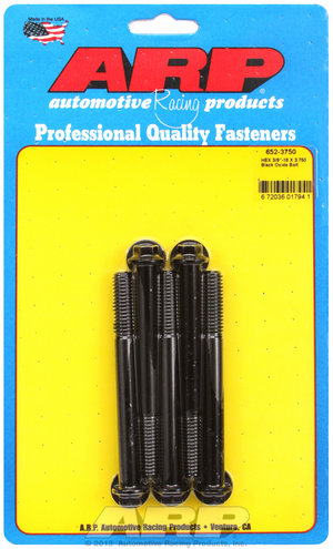 ARP 3/8-16 X 3.750 hex black oxide bolts 6523750