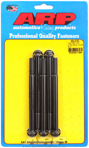 ARP 3/8-16 X 4.750 hex black oxide bolts 6524750