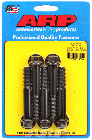ARP 7/16-14 X 2.750 hex black oxide bolts 6532750