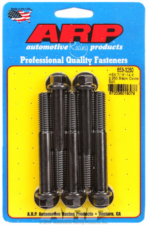ARP 7/16-14 X 3.250 hex black oxide bolts 6533250