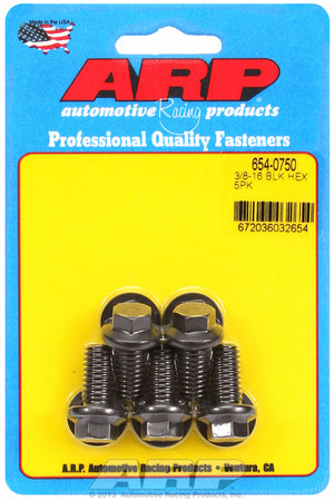 ARP 3/8-16 x 0.750 hex 7/16 wrenching black oxide bolts 6540750