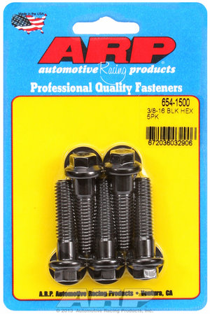ARP 3/8-16 x 1.500 hex 7/16 wrenching black oxide bolts 6541500