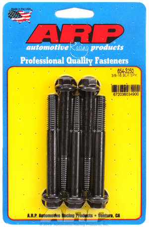 ARP 3/8-16 x 3.250 hex 7/16 wrenching black oxide bolts 6543250
