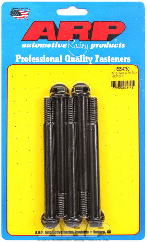 ARP 7/16-14 X 4.750 hex 1/2 wrenching black oxide bolts 6554750
