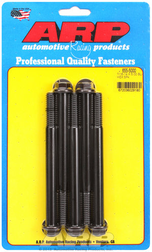 ARP 7/16-14 X 5.000 hex 1/2 wrenching black oxide bolts 6555000