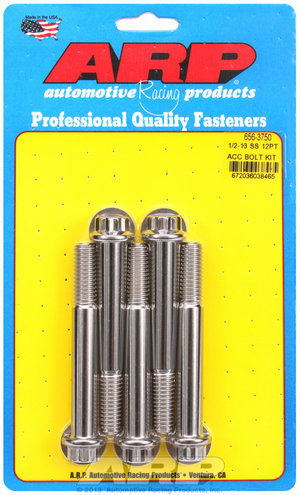 ARP 1/2-13 x 3.750 12pt SS bolts 6563750