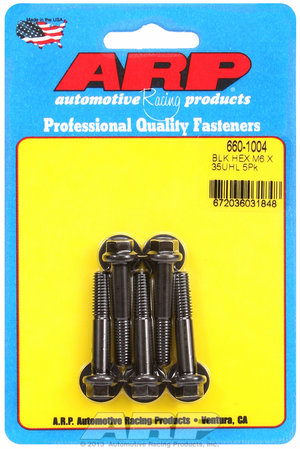 ARP M6 x 1.00 x 35 hex black oxide bolts 6601004