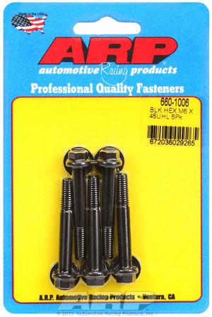 ARP M6 x 1.00 x 45 hex black oxide bolts 6601006