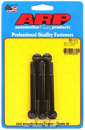 ARP M6 x 1.00 x 75 hex black oxide bolts 6601012