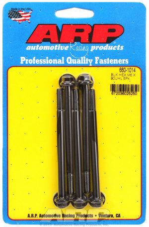 ARP M6 x 1.00 x 90  hex black oxide bolts 6601014