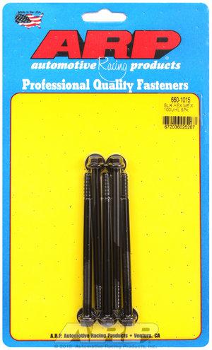 ARP M6 x 1.00 x 100 hex black oxide bolts 6601015