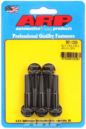 ARP M8 x 1.25 x 40 hex black oxide bolts 6611005