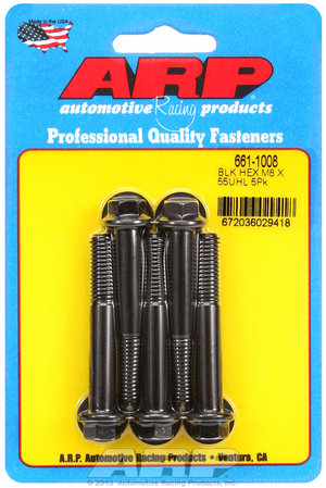 ARP M8 x 1.25 x 55 hex black oxide bolts 6611008