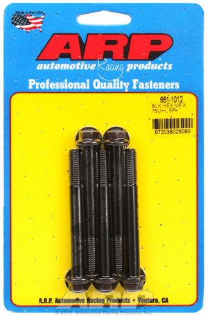 ARP M8 x 1.25 x 75 hex black oxide bolts 6611012