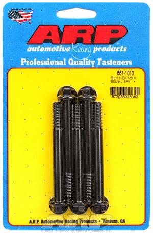 ARP M8 x 1.25 x 80 hex black oxide bolts 6611013