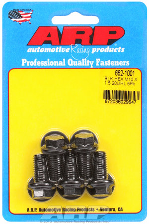 ARP M10 x 1.50 x 20 hex black oxide bolts 6621001