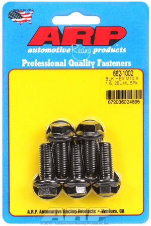 ARP M10 x 1.50 x 25 hex black oxide bolts 6621002