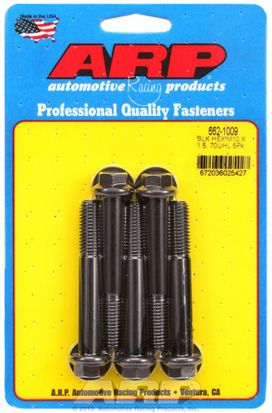 ARP M10 x 1.50 x 70 hex black oxide bolts 6621009