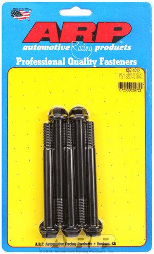 ARP M10 x 1.50 x 100 hex black oxide bolts 6621012