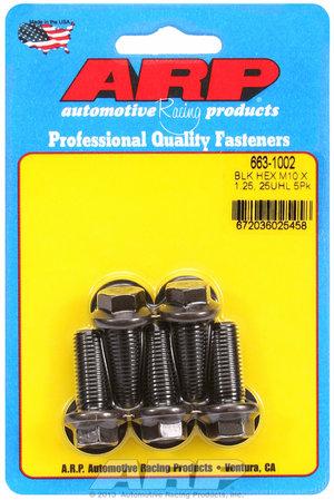ARP M10 x 1.25 x 25 hex black oxide bolts 6631002