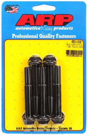 ARP M10 x 1.25 x 70 hex black oxide bolts 6631009