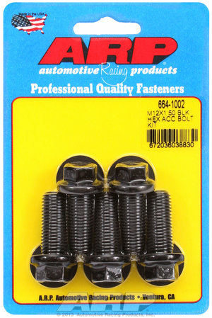 ARP M12 x 1.50 x 30 hex black oxide bolts 6641002