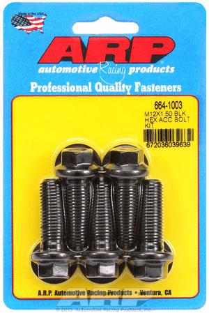 ARP M12 x 1.50 x 35 hex black oxide bolts 6641003