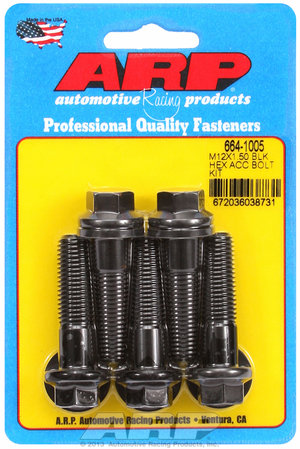 ARP M12 x 1.50 x 45 hex black oxide bolts 6641005