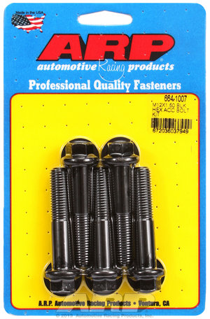 ARP M12 x 1.50 x 60 hex black oxide bolts 6641007