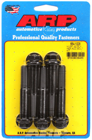 ARP M12 x 1.50 x 70 hex black oxide bolts 6641008