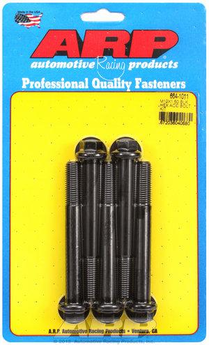 ARP M12 x 1.50 x 100 hex black oxide bolts 6641011
