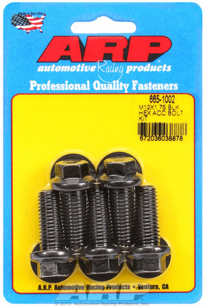 ARP M12 x 1.75 x 30 hex black oxide bolts 6651002