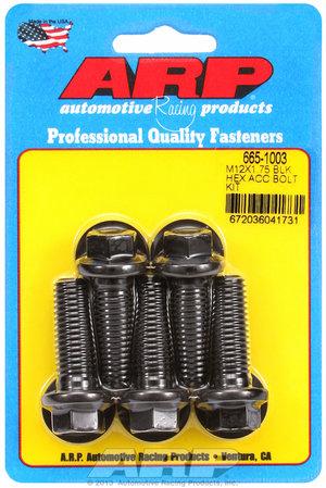 ARP M12 x 1.75 x 35 hex black oxide bolts 6651003