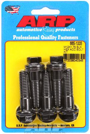 ARP M12 x 1.75 x 45 hex black oxide bolts 6651005