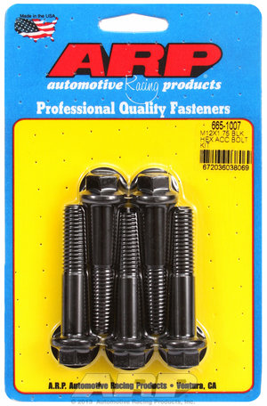 ARP M12 x 1.75 x 60 hex black oxide bolts 6651007