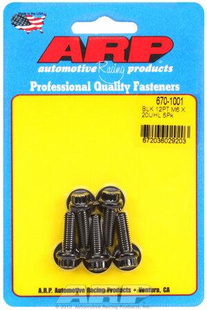 ARP M6 x 1.00 x 20 12pt black oxide bolts 6701001