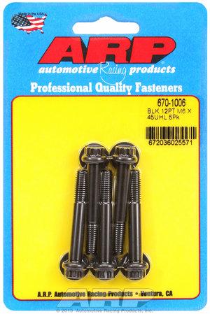ARP M6 x 1.00 x 45 12pt black oxide bolts 6701006