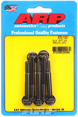 ARP M6 x 1.00 x 50 12pt black oxide bolts 6701007