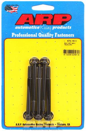 ARP M6 x 1.00 x 70 12pt black oxide bolts 6701011