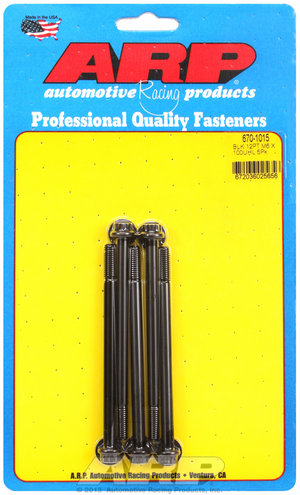 ARP M6 x 1.00 x 100 12pt black oxide bolts 6701015